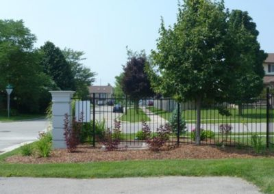 Commercial Installation of entrance flowerbed for multi-unit condominium