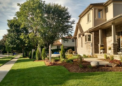 Enhancing curb appeal and privacy of corner lot