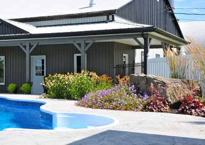 Adding a low-maintenance but colourful garden to pool area