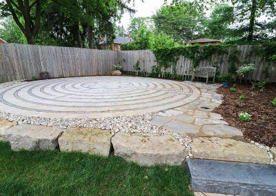 Stone Labyrinth by A Touch of Dutch Landscaping