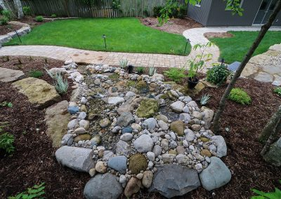 Natural stone pondless stream