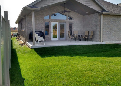 Plain backyard needs landscaping and colour
