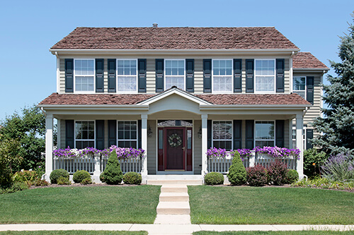improve curb appeal medium moderate budget window boxes stone walkway