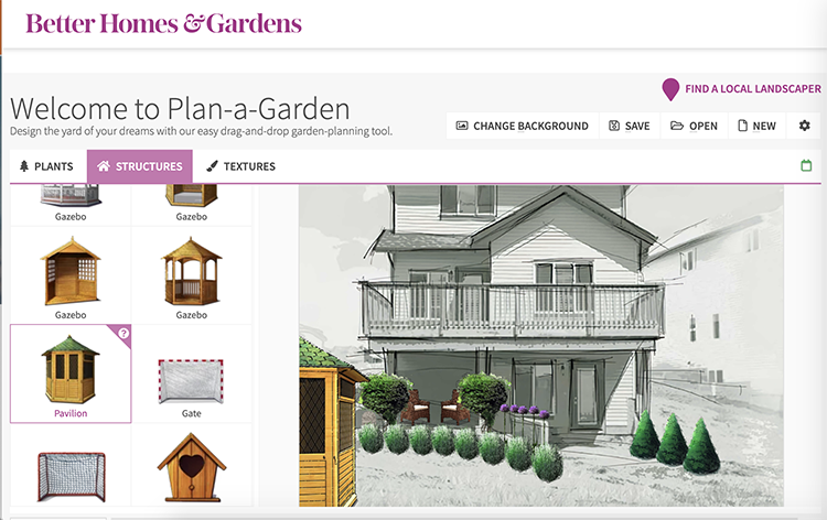 apps and tools for landscape design better homes and gardens plan-a-garden