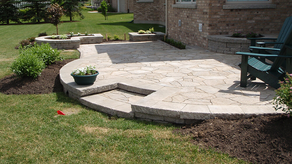 Flagstone Look on a Paver Budget