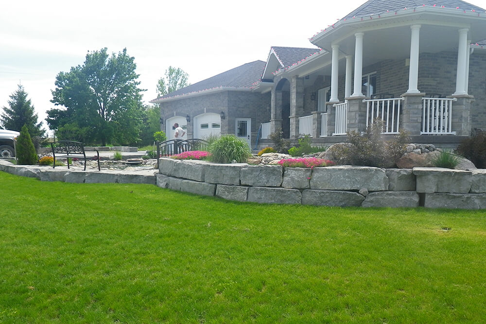natural stone armour stone retaining walls